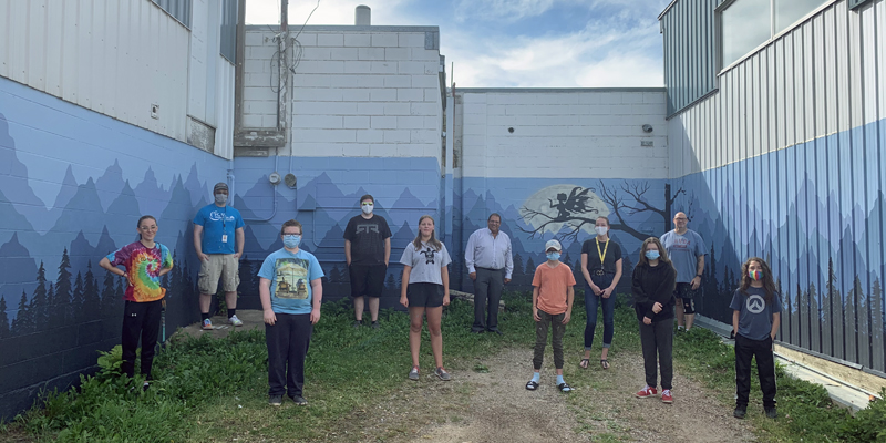 Youth Graffiti Cleanup