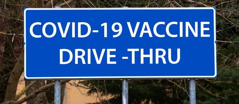 drive-thru vaccination clinic
