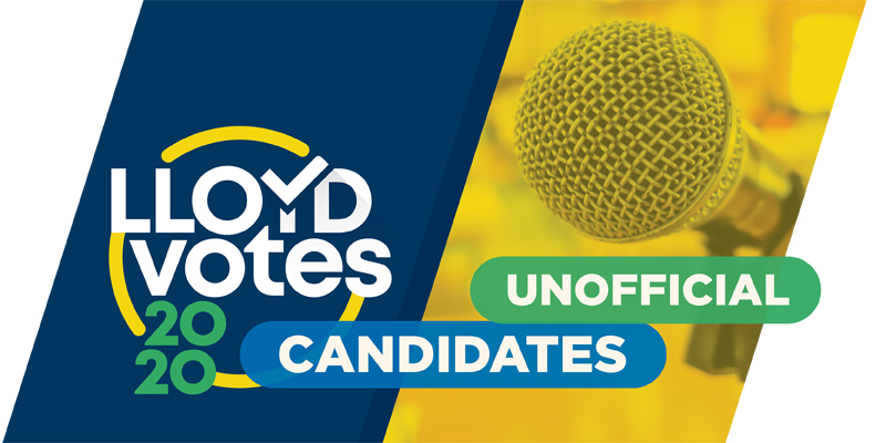 Lloyd Votes Unofficial Candidates