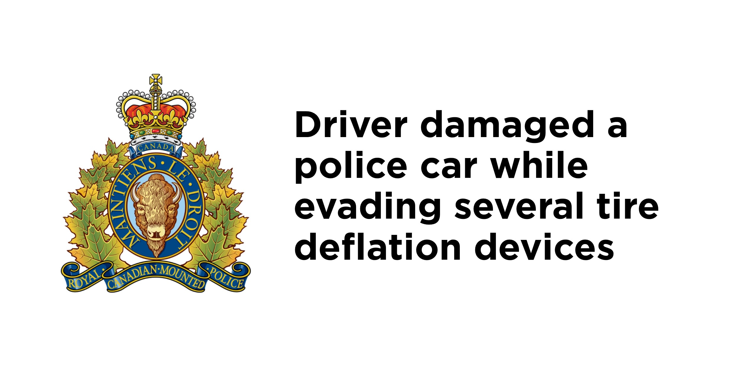 RCMP arrest dangerous driver