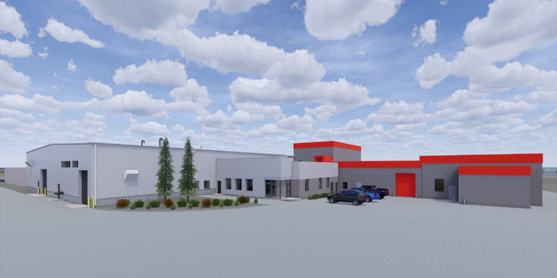 Wastewater Treatment Facility rendering