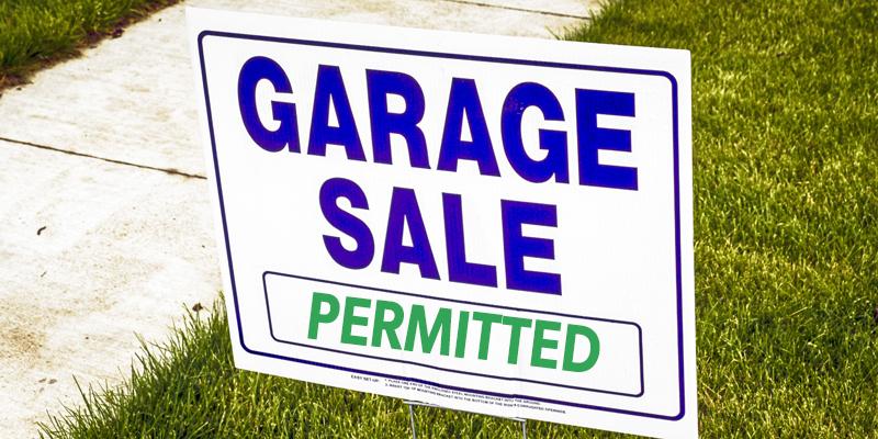 Garage sales permitted