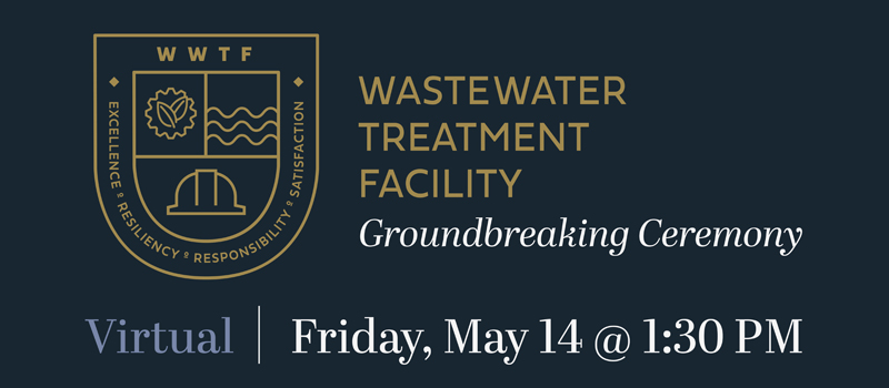 Wastewater Treatment Facility groundbreaking ceremony