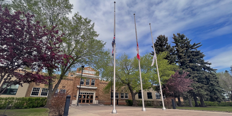 Flags at half-mast for Firefighters' National Memorial Day.