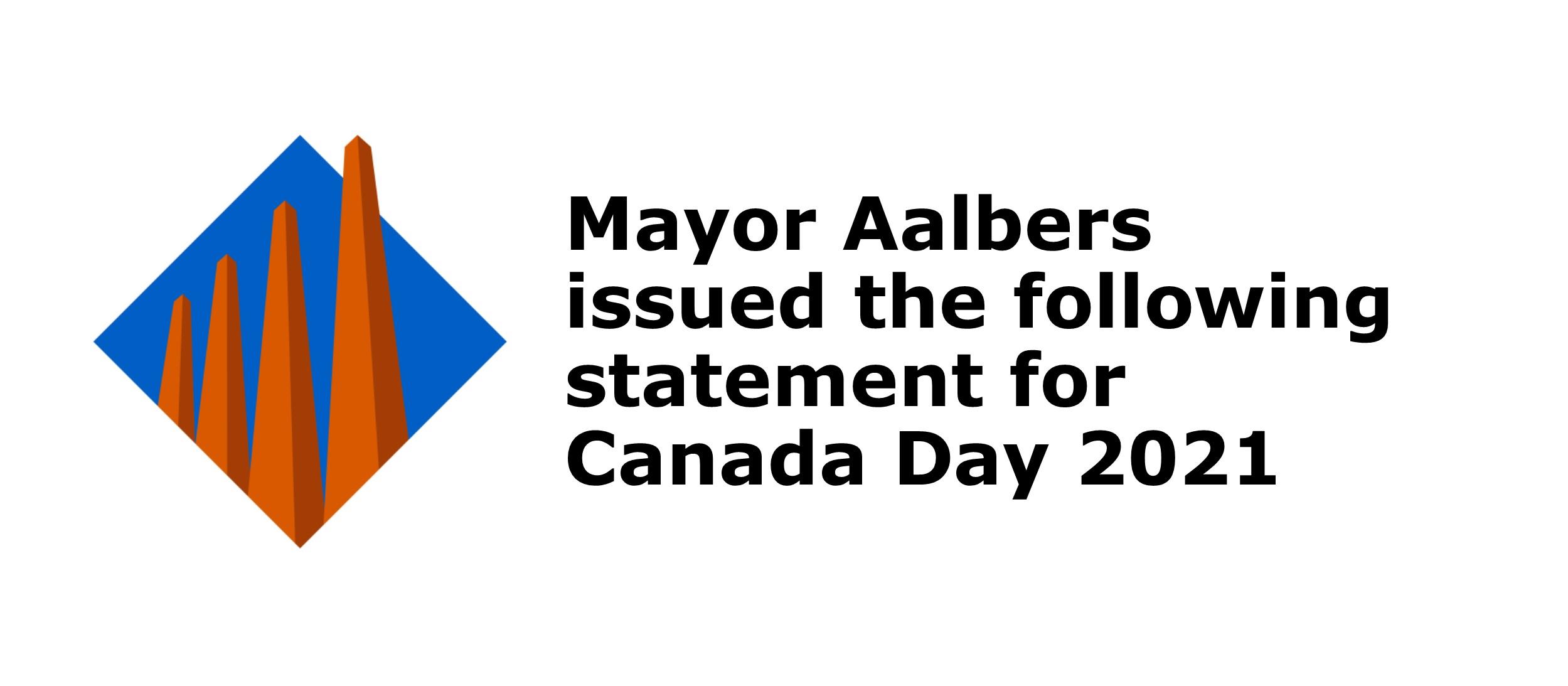 Mayor Aalbers Canada Day address