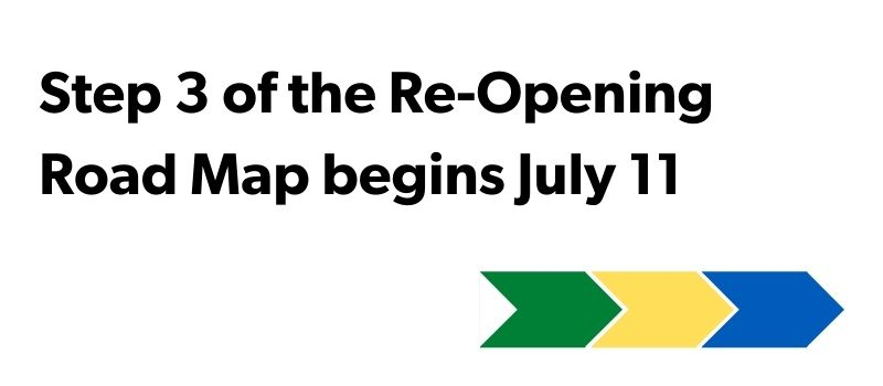 Saskatchewan Step 3 begins July 11