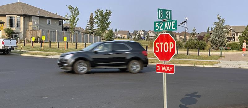 18 Street 52 Avenue 3-way stop