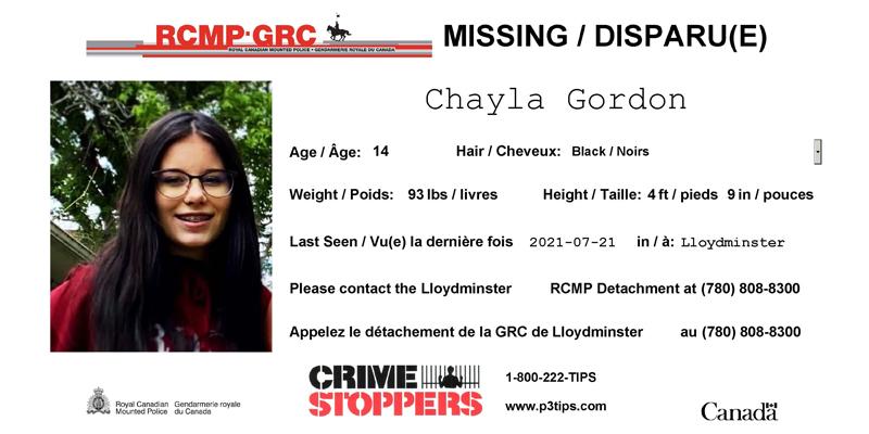 Missing: Chayla Gordon