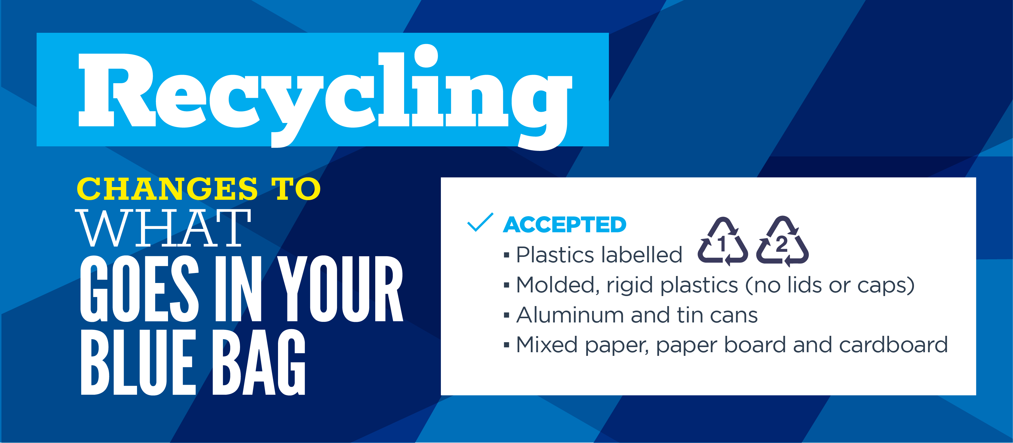 Curbside recycling changes