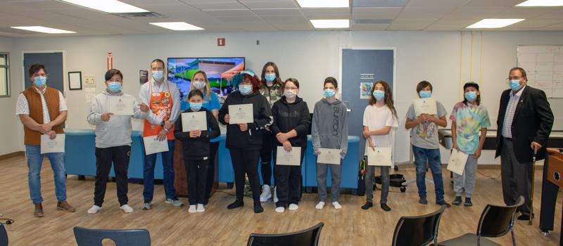 Graffiti Cleanup certificate presentation