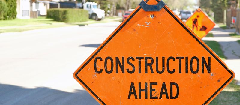 Impending lane restriction on 52 Street