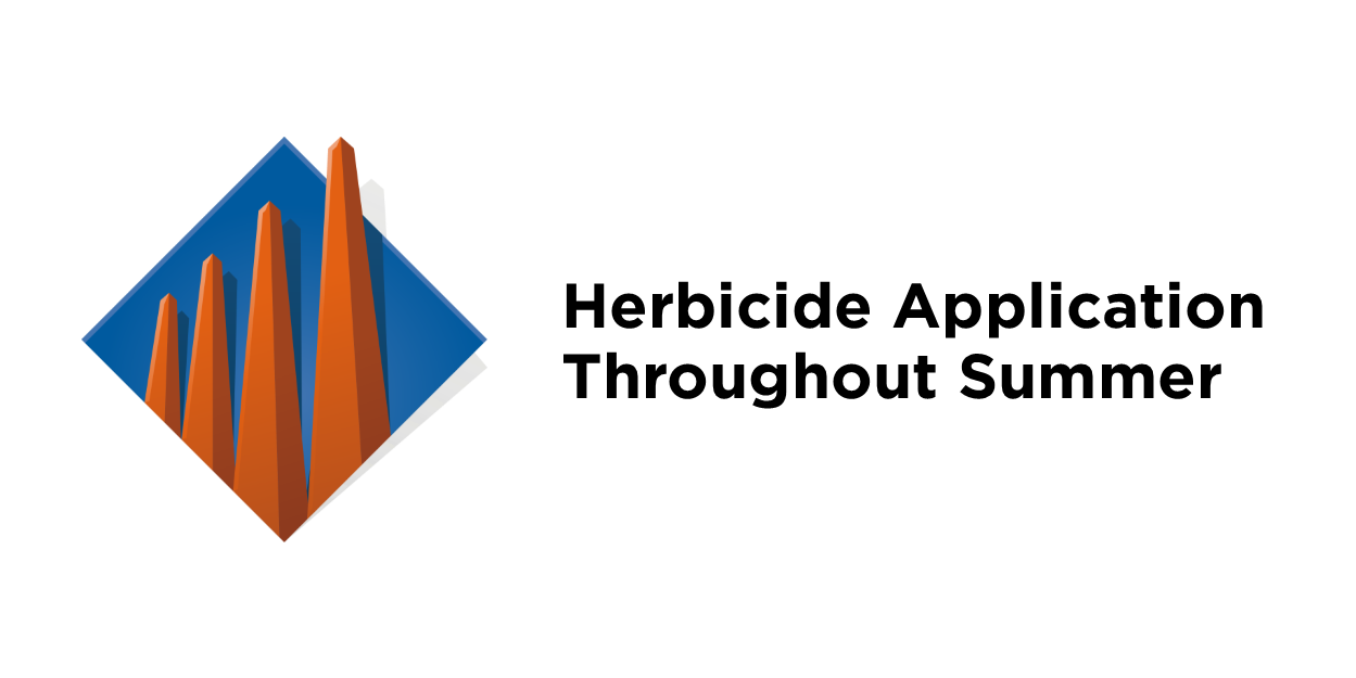 Herbicide Application Throughout Summer