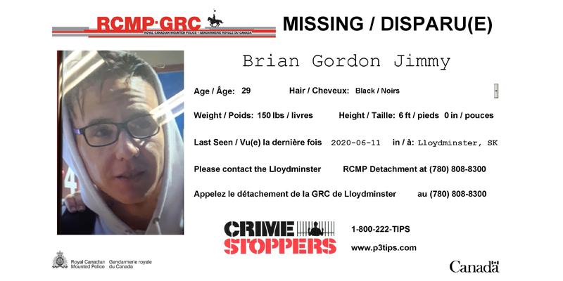 MISSING: Brian Gordon Jimmy