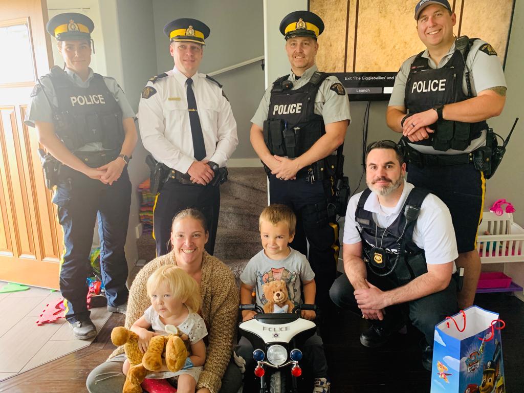 Lloydminster RCMP Visit 4 year old child